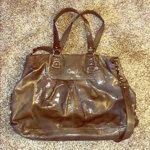 Coach Gray Leather Hobo Purse